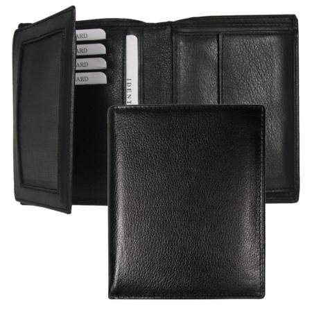 Geldbörse: Schwarz, Rindleder