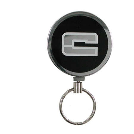 Schlüsselrollo mit Gürtelclip: Metall / Art.-Nr. 100366096