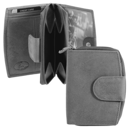 Geldbörse: Braun, Grau oder Cognac, Leder / Art.-Nr. 286430