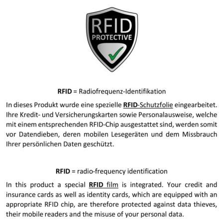 Geldbörse: Schwarz, VEGAN, RFID geschützt / Art.-Nr. 746060002